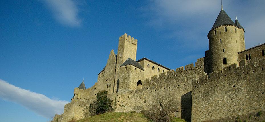 Cité médiévale de Carcassonne à proximité du camping